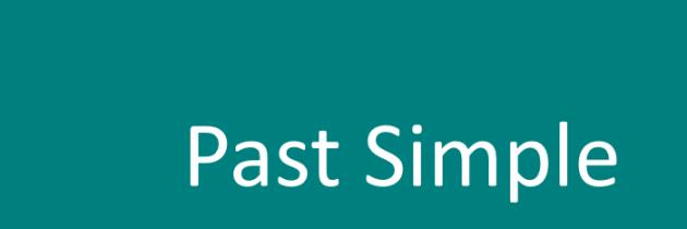 Простое прошедшее время в английском языке (Past Simple) — просто и понятно!